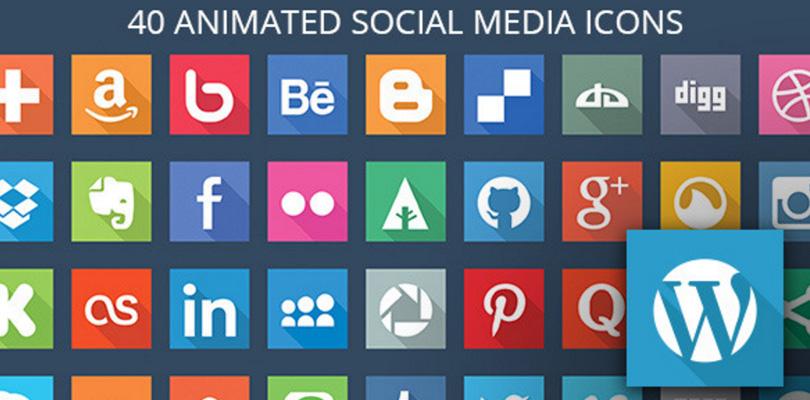 40 Animated SVG Social Media Icons for WordPress