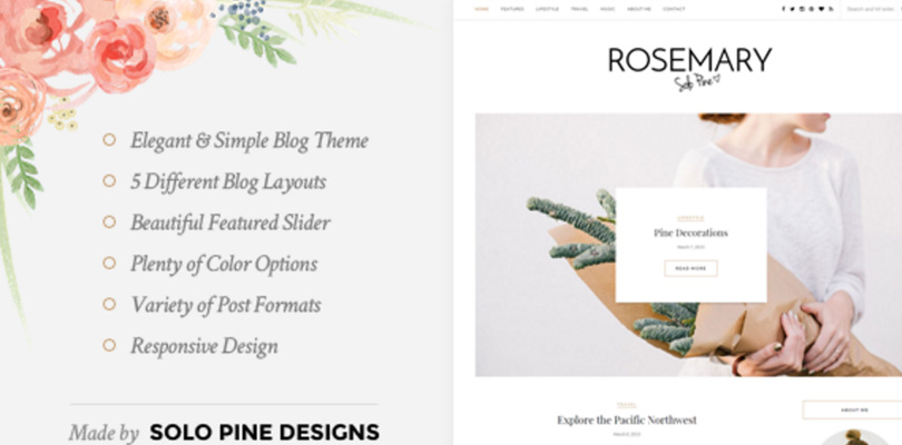 Rosemary — A Responsive WordPress Blog Theme