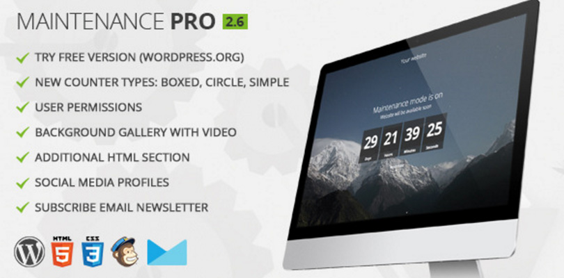 Maintenance Pro WordPress Plugin
