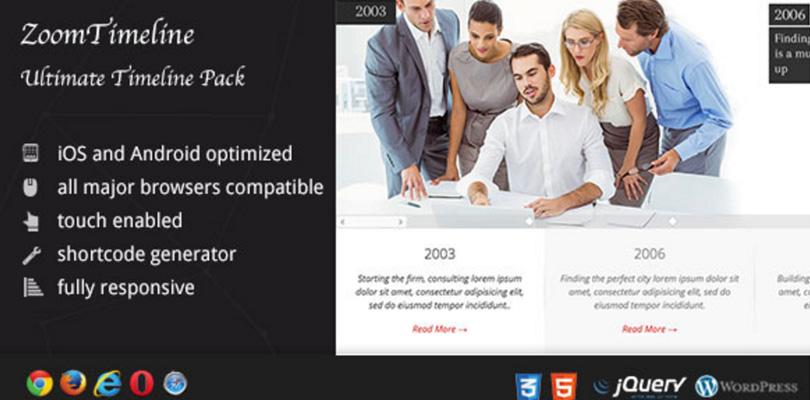 ZoomTimeline — WordPress Ultimate Timeline Pack