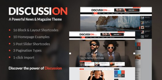 Discussion — A Powerful News Magazine Theme