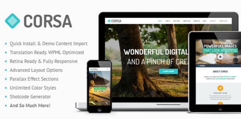 Corsa WordPress Theme