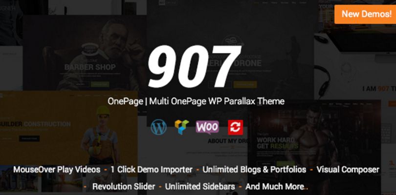 907 Mult One Page Parallax Theme