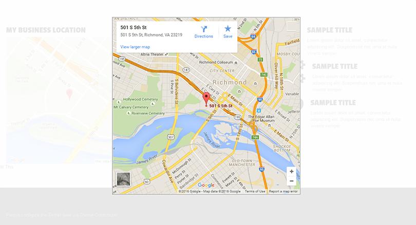Google Maps Widget Interactive