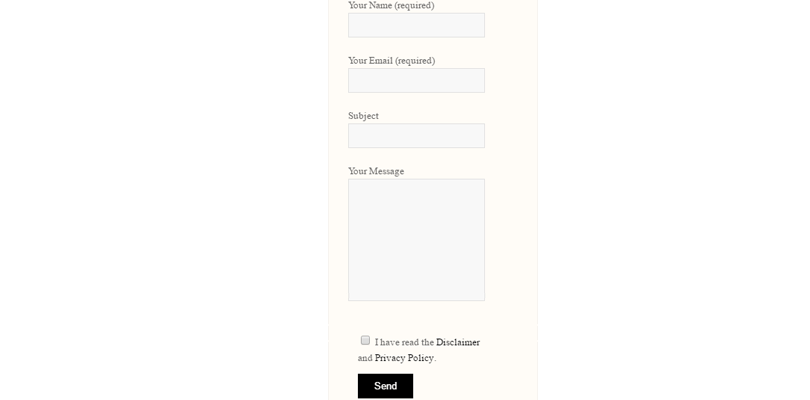 default contact form 7