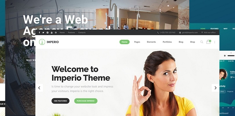 Imperio - Business, E-Commerce, Portfolio and Photography WordPress Theme