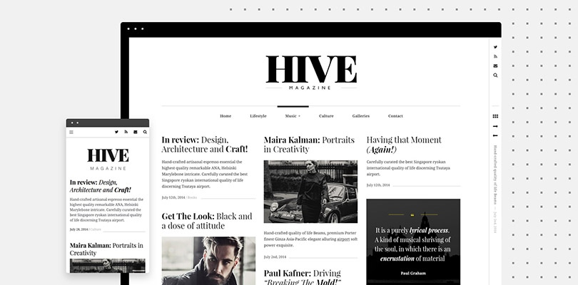 HIVE — Handcrafted WordPress Theme for Bloggers