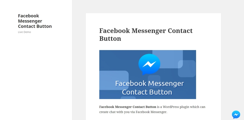 Facebook Messenger Contact Button