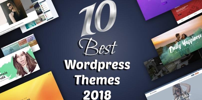 Top 10 WordPress Themes Created in 2018