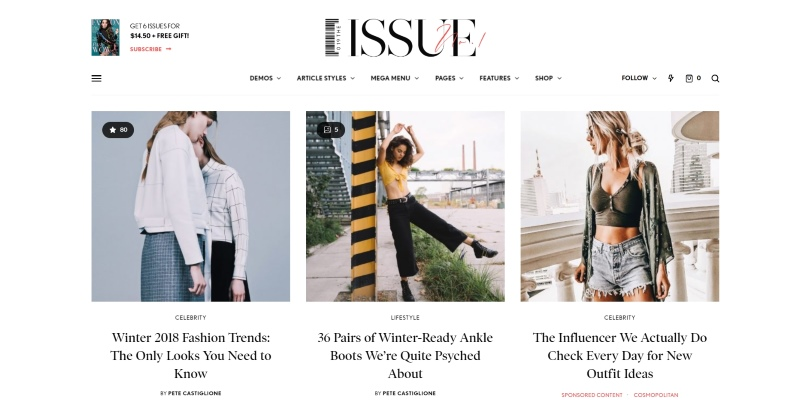 The Issue — Versatile Magazine WordPress Theme