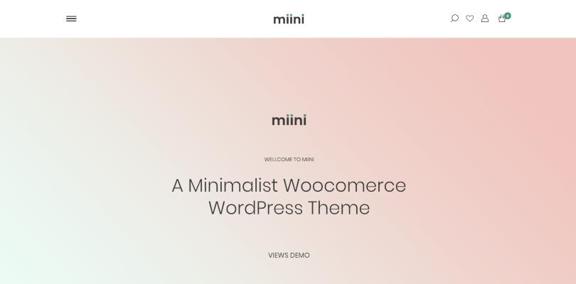 Miini — A Minimal WooCommerce Theme