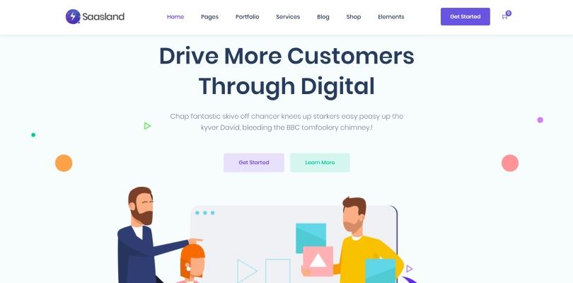 SaasLand — MultiPurpose WordPress Theme for Saas Startup Software Business