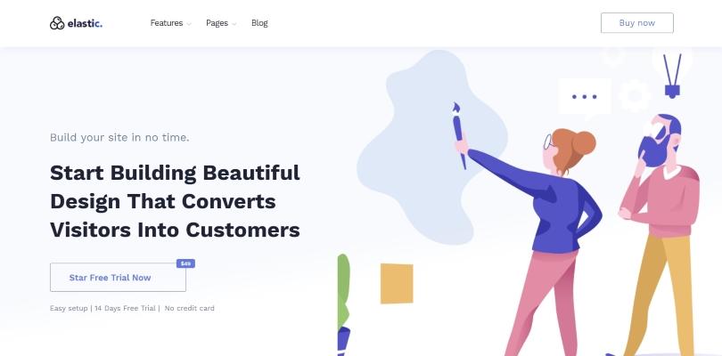 Elastik — SAAS, SEO, Startup, App WordPress Theme