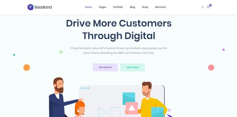 SaasLand — MultiPurpose WordPress Theme for Saas & Startup