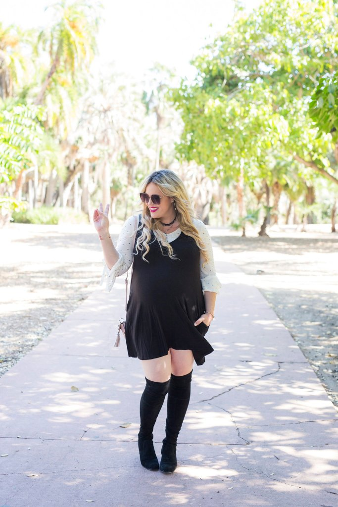 Preggo Style with Polka Dots and Pockets, preggo style, preggo blogger, pregnant blogger, pregnant, maternity, maternity blogger, san diego blogger, loft, nordstrom, socialite, bp, style under 50