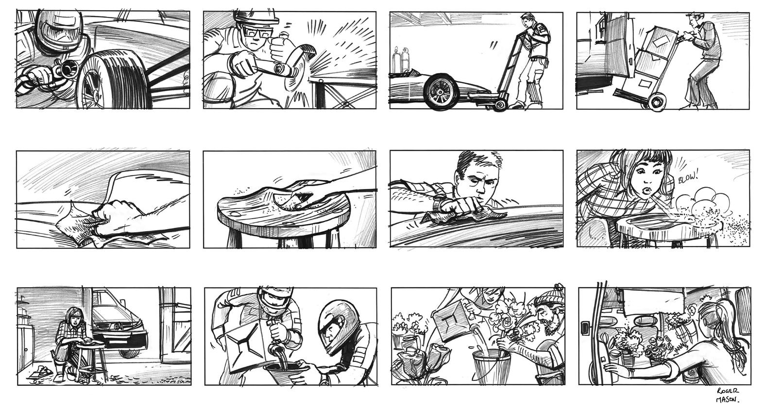 Storyboard artist - Roger Mason; storyboard artist, illustrator