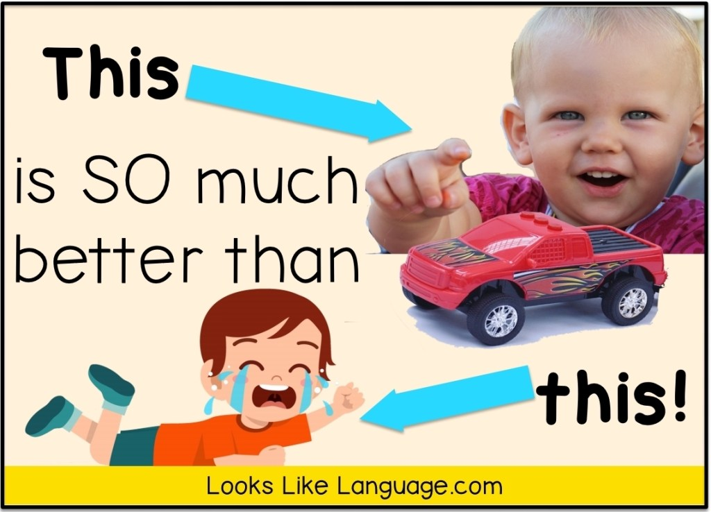 speech therapy, autism, pointing, choices