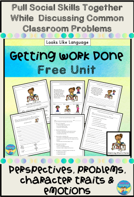 Pull social skills together with this free unit from Looks Like Language.