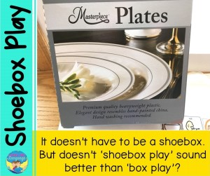 It doesn't have to be a shoebox. But doesn't 'shoebox play' sound better than 'box play'? Autism speech therapy