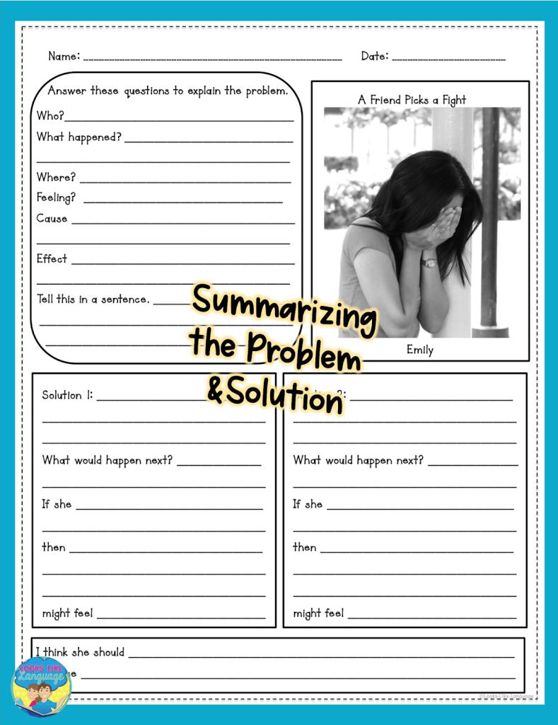 problem solving, speech therapy, teen social skills