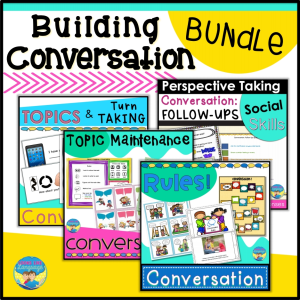 conversation activities for autism, speech therapy, special education