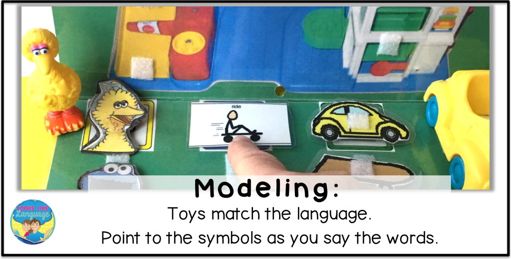 visual modeling, sentence building, autism, speech therapy