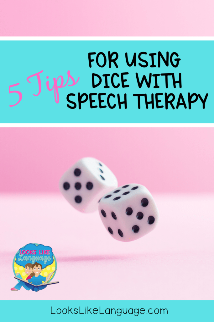 dice with speech therapy