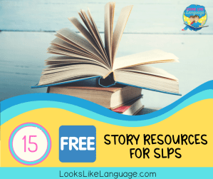 free resources, literacy, stories, internet, speech therapy