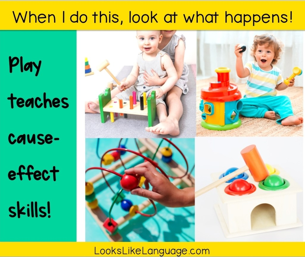 cause effect toys, consequences, speech therapy