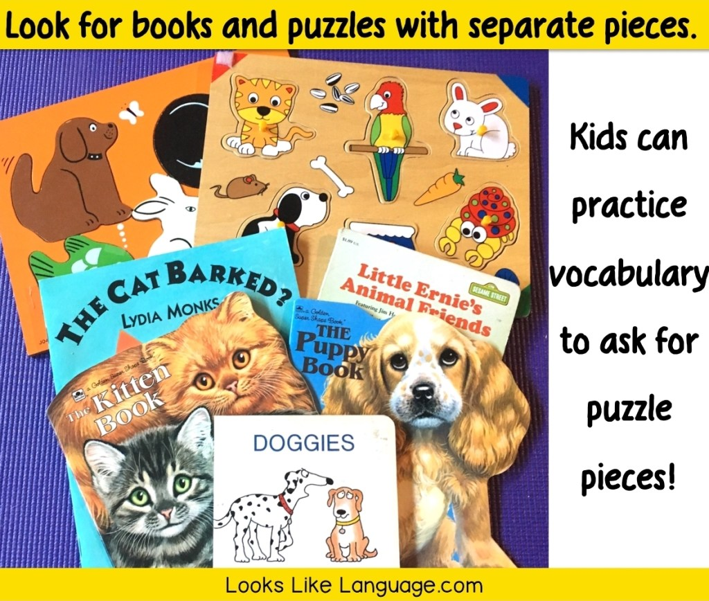 puzzles in speech therapy, garage sales