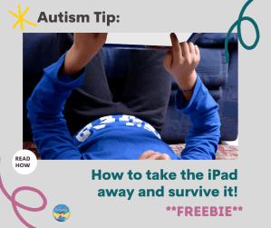 boy playing on an iPad