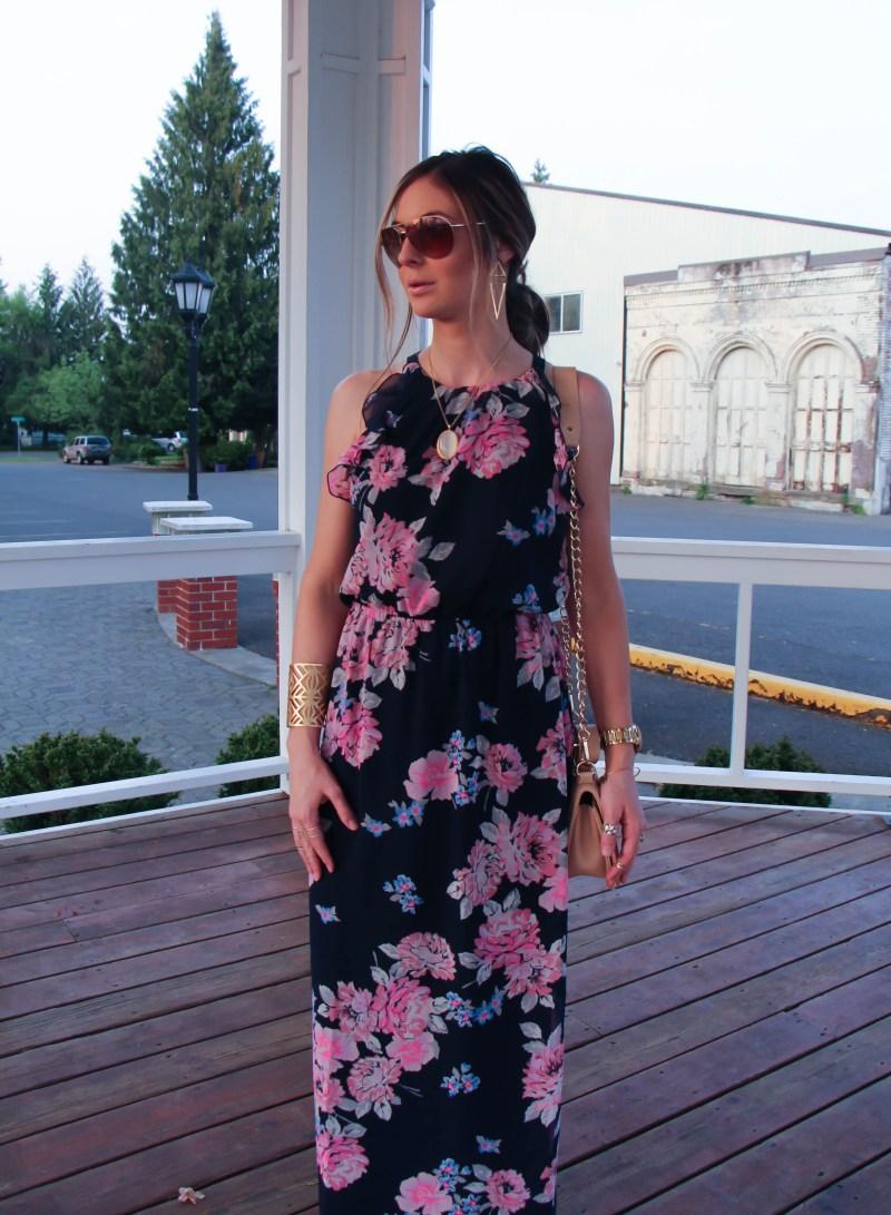 Trendy Spring Floral Dress