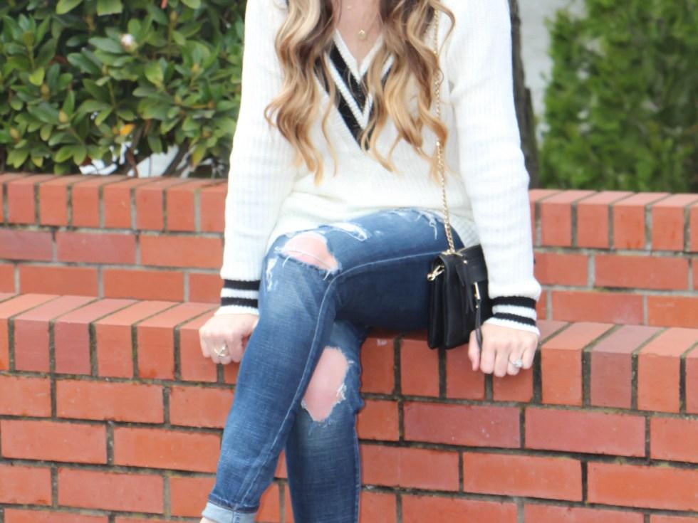 Varsity Sweater by Shein