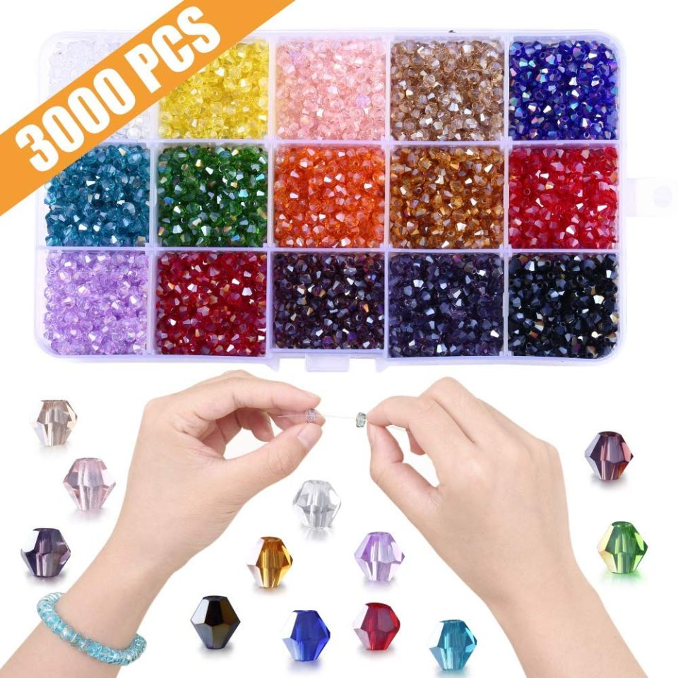 bicones beads 4 mm crystals jewelry making supplies