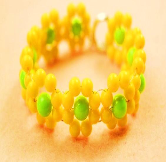 pulsera de flores manilla brazalete bisuteria paso a paso gratis joyas ecuador