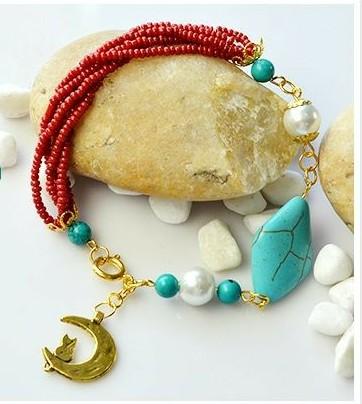cb836bdea Bisutería PASO A PASO para hacer esta elegante pulsera!    How to make this  elegant bracelet!DIY! - Look so Cute