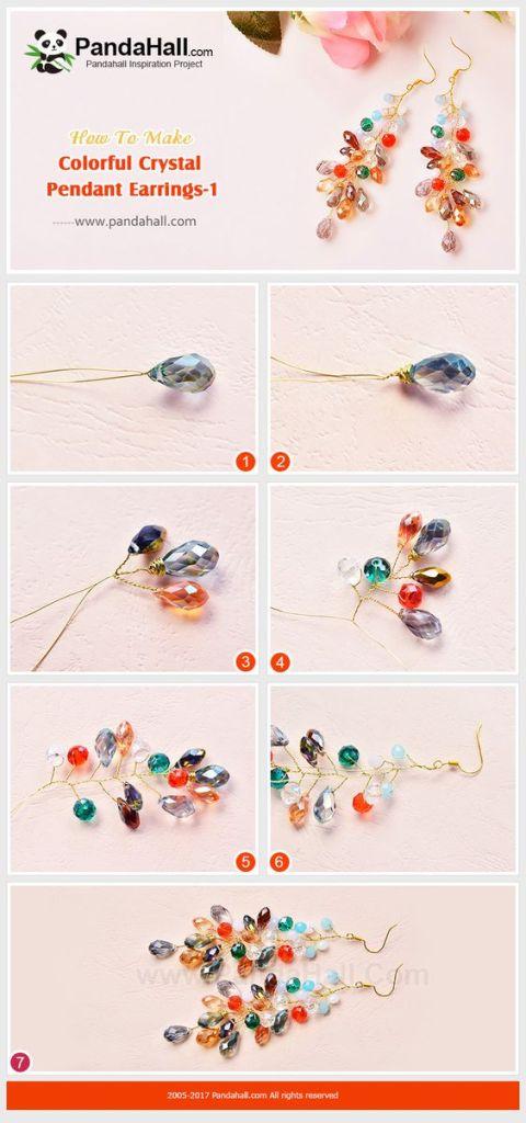 aretes alambres cristales