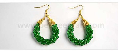 aretes mostacilla alambre wire earrings DIY