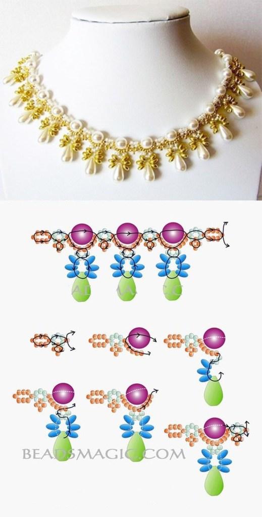 collares mostacillas lagrimas beads necklaces