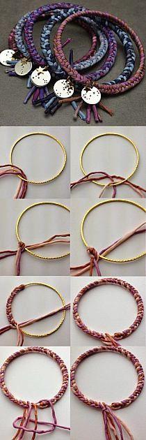 pulseras aro tejida handmade jewelry bracelets
