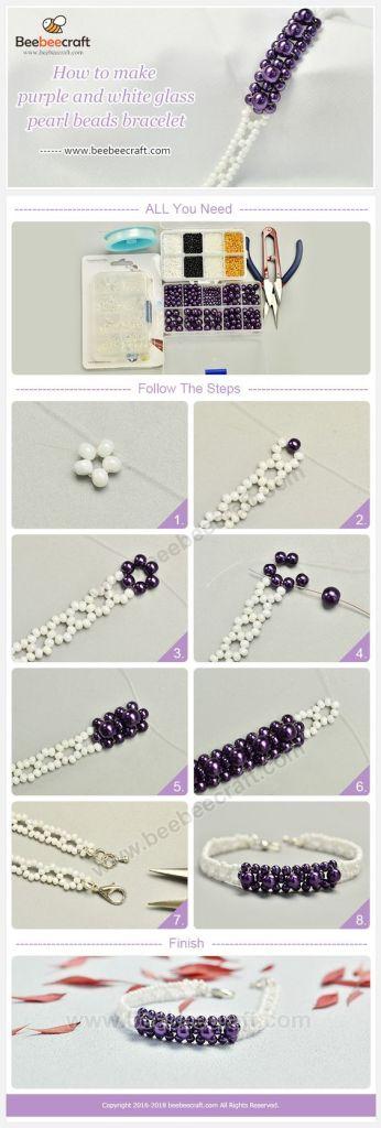 tutorial pulsera beads mostacillas bracelets jewelry handmade DIY