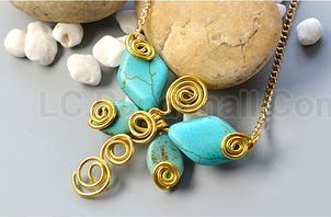 bisuteria jewelry dije pendiente mariposa turquesa dijes collares necklaces butterfly turquoise