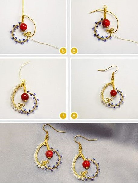aretes zarcillos alambre earrings wire handmade jewelry