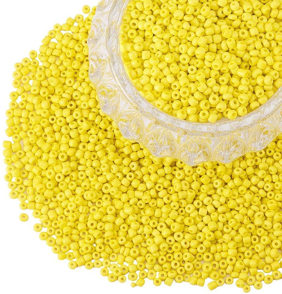 yellow glass beads amazon