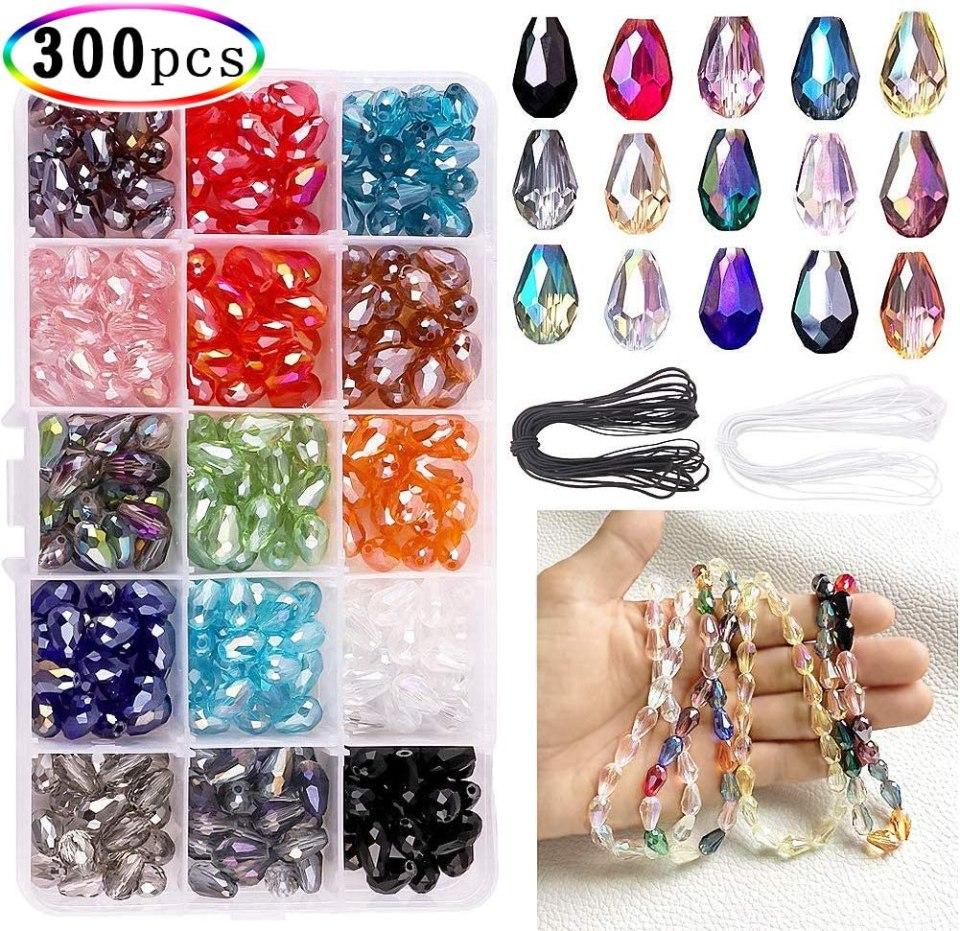 8-x-12mm-DIY-Teardrop-Crystal-Beads-jewelry-making-supplies