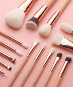15 Pieces Pink Rose Gold Makeup Brushes Makeup Lookta Beauty View All