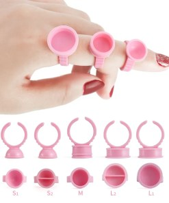 100 Pieces Of Disposable Lash Extension Glue Holder Ring Eyelashes Lookta Beauty View All