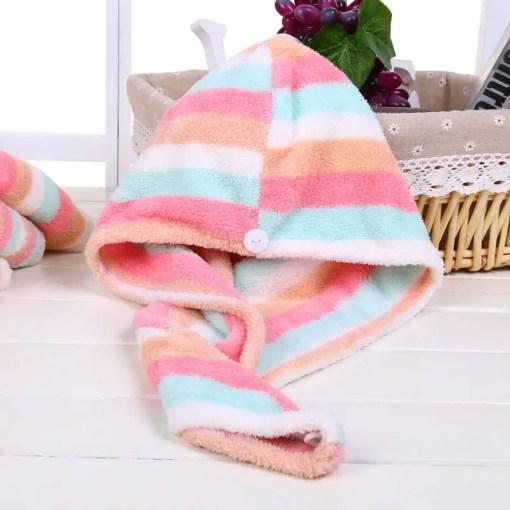 Women Drying Hair Towel Lookta Home Bath