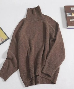 Cashmere Oversized Turtleneck Warm Long Sleeves Sweater Women's Fashion View All Women's Clothing Sweater