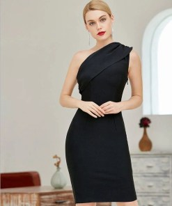 One Shoulder Bandage Body-Con Women Dress Women's Fashion View All Women's Clothing Dresses